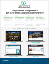 PDF titled Do you know how powerful gift cards are as an online marketing tool?